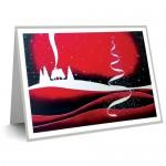 Ζωγραφική με το στόμα και το πόδι | Ευχετήρια κάρτα